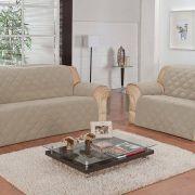Protetor de Sofá Face Única Confort Home 2 e 3 Lugares - Bege