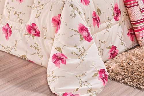 Kit Edredom 180 Fios Queen Requinte 03 Peças - Pink