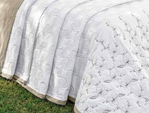 Kit Cobre Leito 200 Fios Queen Istambul 05 Peças - Branco
