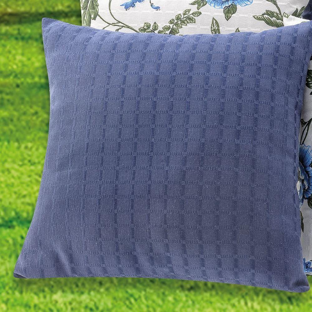 Kit Almofada Decorativa Bia (COM REFIL) 08 Peças -  Azul