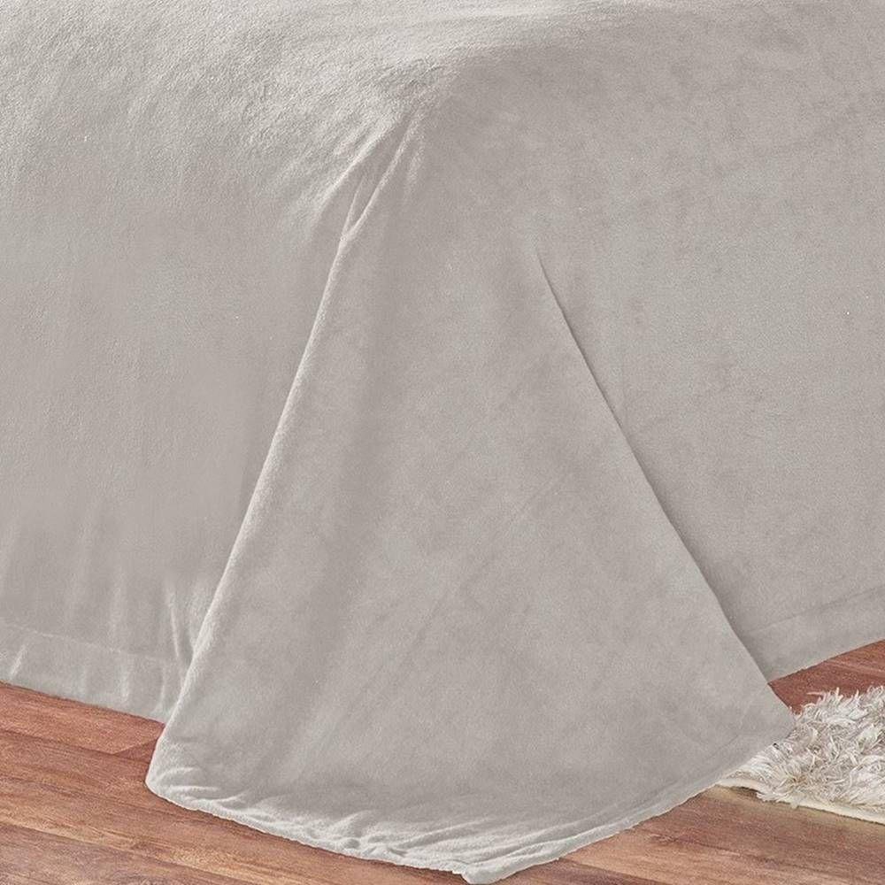 Cobertor Pele de Carneiro Sherpa Alaska King 01 Peça - Cinza