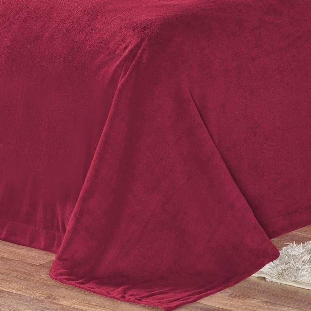 Cobertor Pele de Carneiro Sherpa Alaska King 01 Peça - Vinho