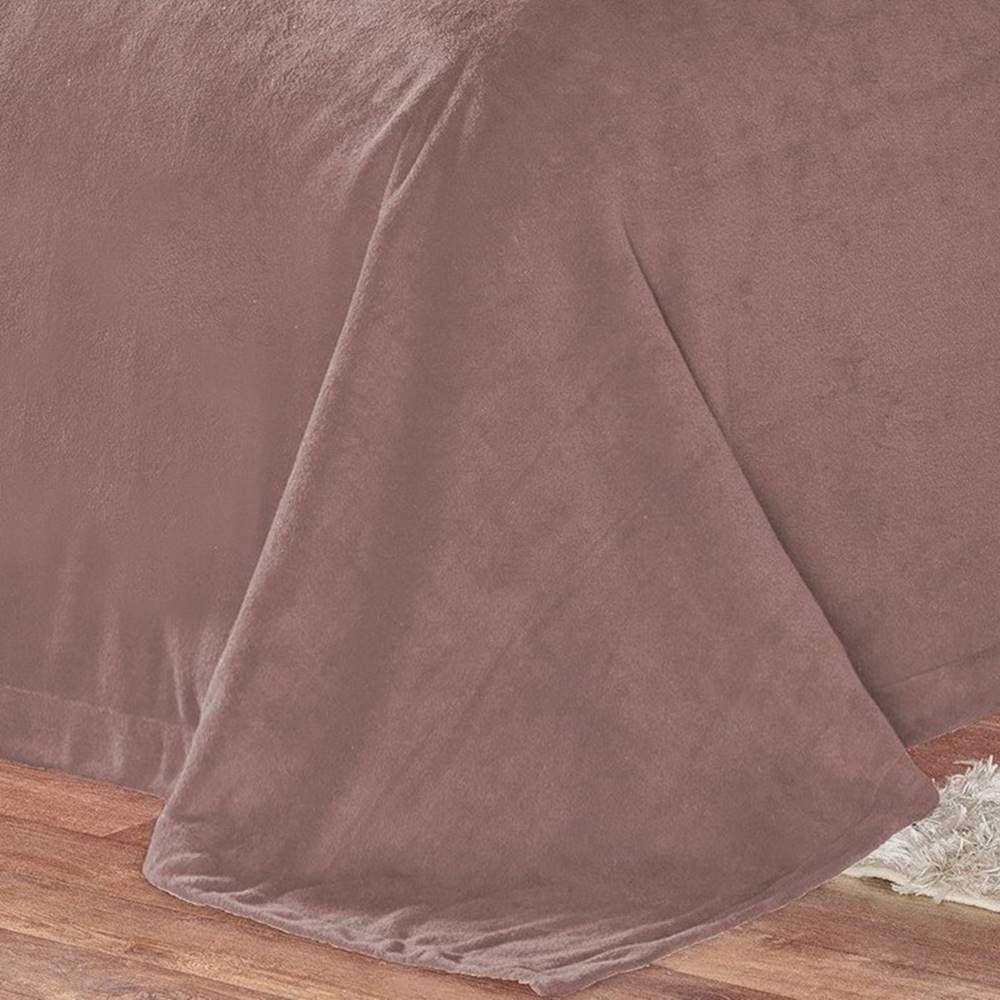 Cobertor Pele de Carneiro Sherpa Alaska Queen 01 Peça - Rosê