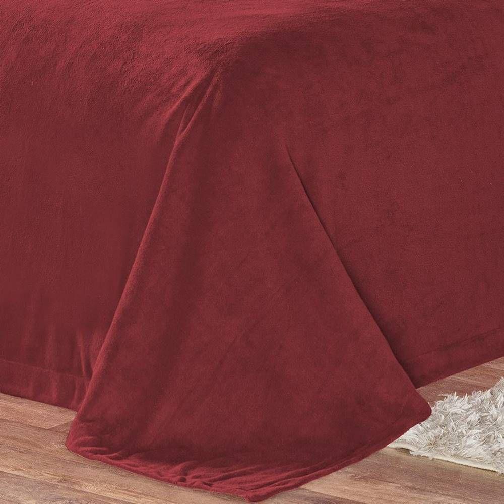Cobertor Pele de Carneiro Sherpa Alaska Queen 01 Peça - Vermelho