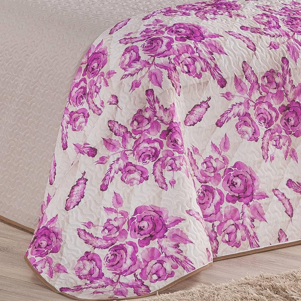 Cobre Leito Estampado Queen Montana 03 Peças - Pink
