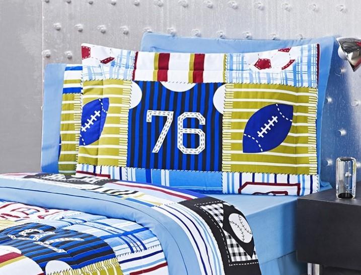 ... Jogo de Cama Lençol Estampado 150 Fios Solteiro New Boys 03 Peças -  Azul Motorista Futebol 78952e1cbb3