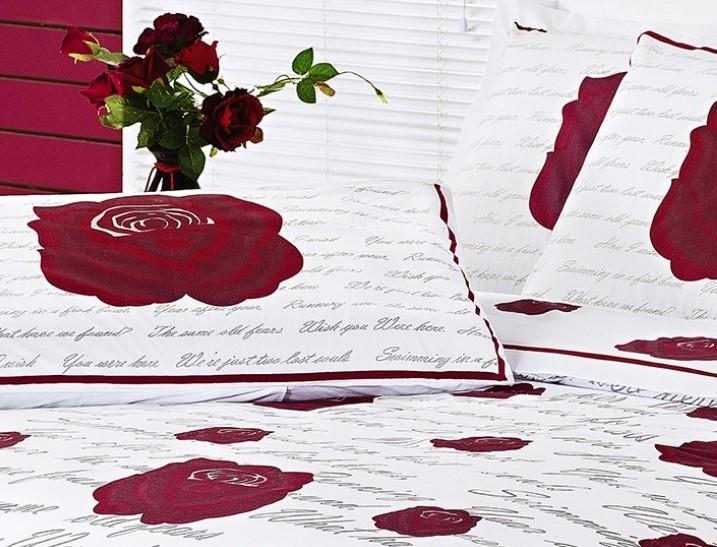 Jogo de Cama Lençol Estampado 200 Fios Queen Craft 04 Peças - Roses