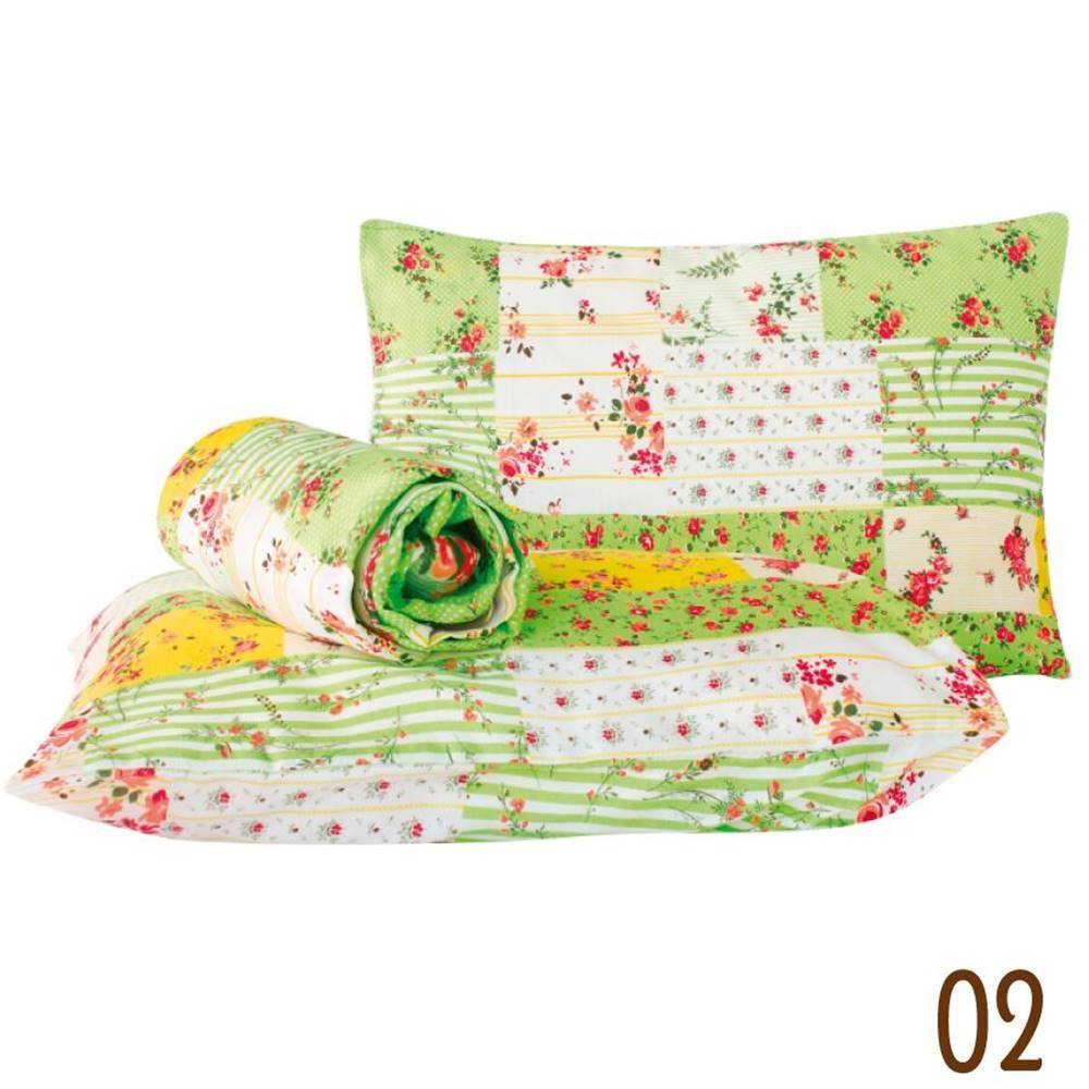 Jogo de Lençol Queen Marina Tecido Misto 03 Peças - Patchwork Verde