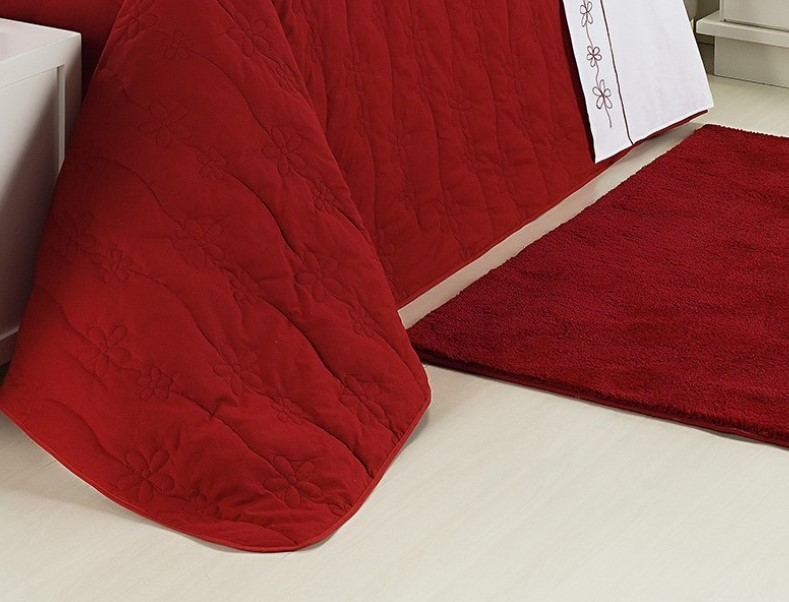 Kit Cobre Leito 150 Fios Queen Dolce 09 Peças - Vermelho