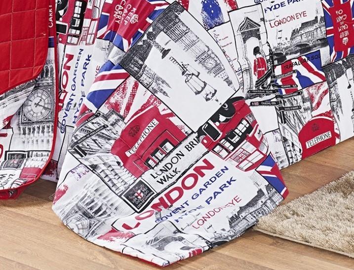 Kit Cobre Leito 150 Fios Solteiro London 03 Peças - Vermelho