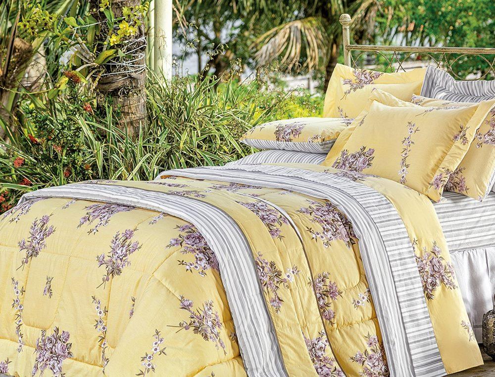54cdd8a55b Kit Cobre Leito Estampado 200 Fios Casal Craft 03 Peças - Vogue ...