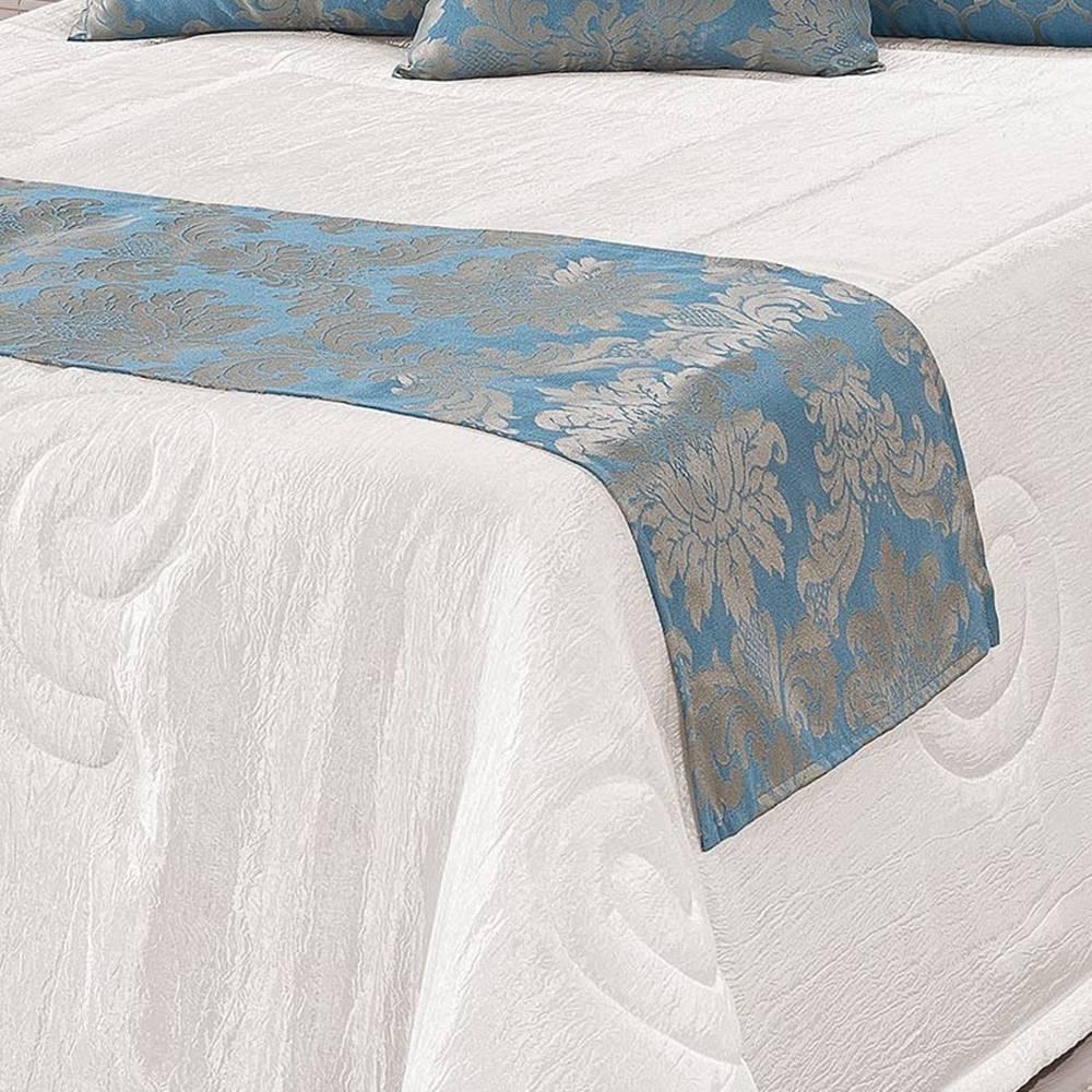 Kit Cobre Leito King Viena 10 Peças - Azul Celeste