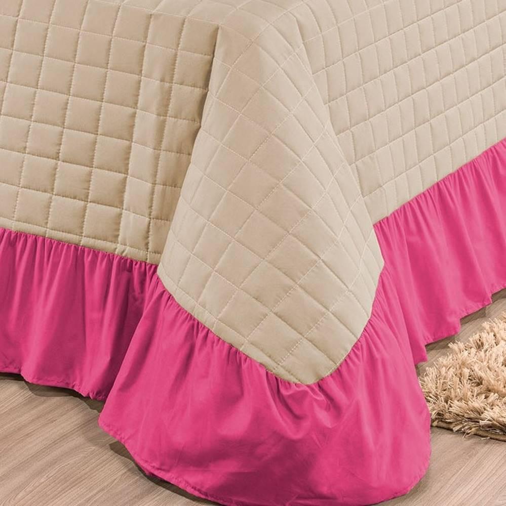 Kit Cobre Leito Queen Charlotte 07 Peças - Pink