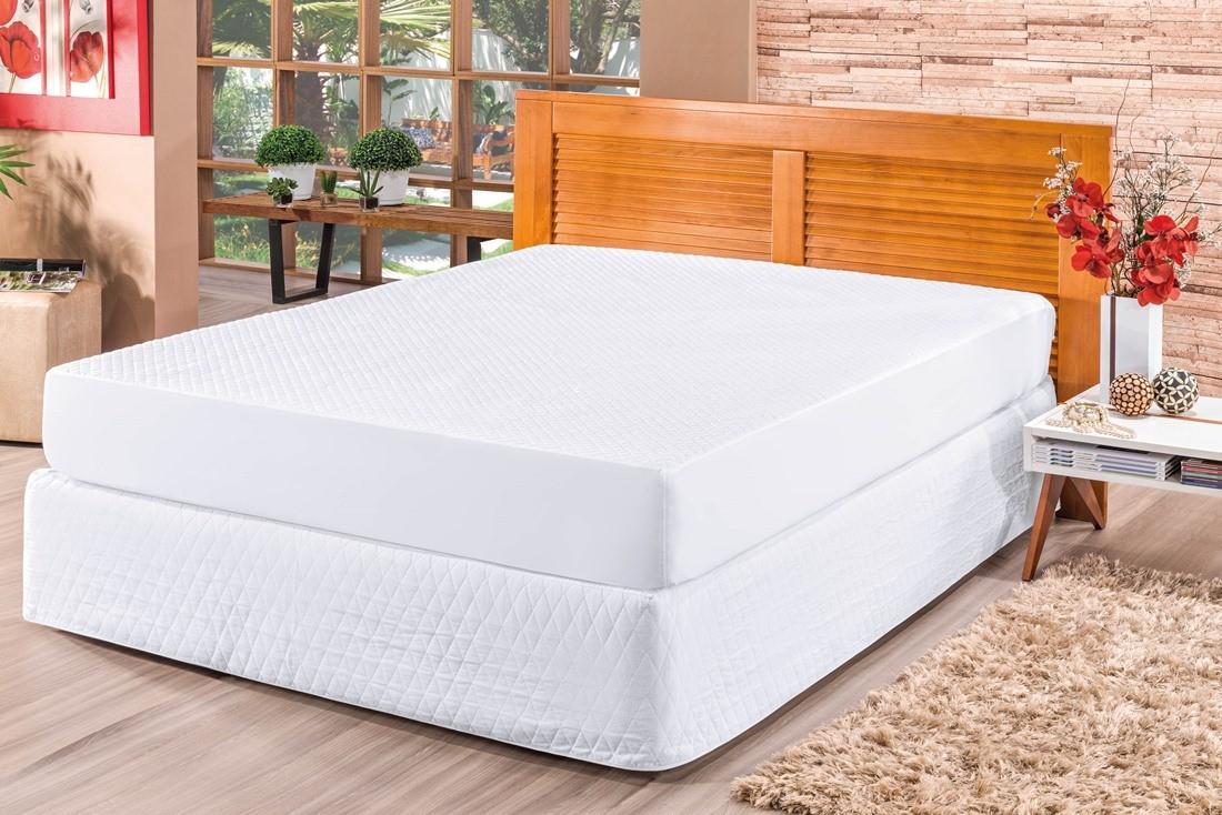 Protetor Impermeável Para Colchão Bia Solteiro - Branco