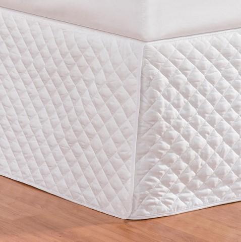 Saia Box 140 Fios Casal Requinte 01 Peça - Branco