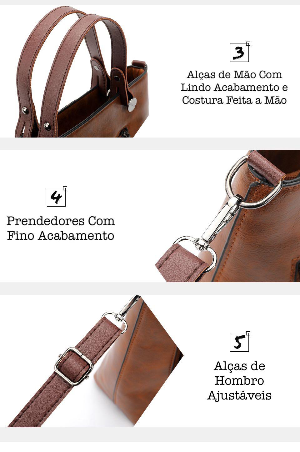 Bolsa de Couro Feminina Luxo Premium