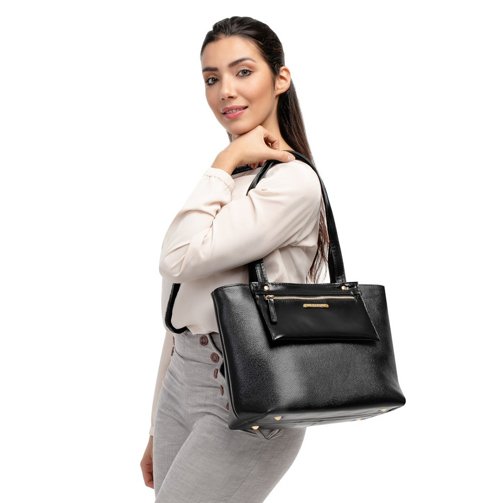 Bolsa de Couro Legitimo Feminina Grande de Ombro Premium