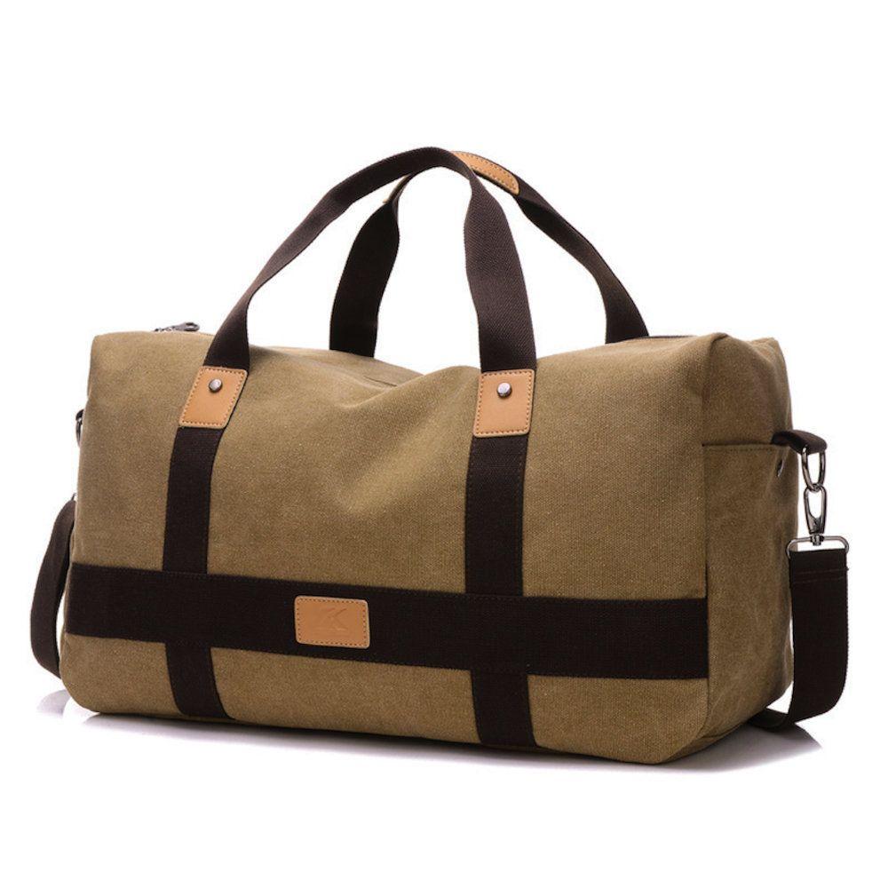 bolsa de viagem de mao confeccionada em lona