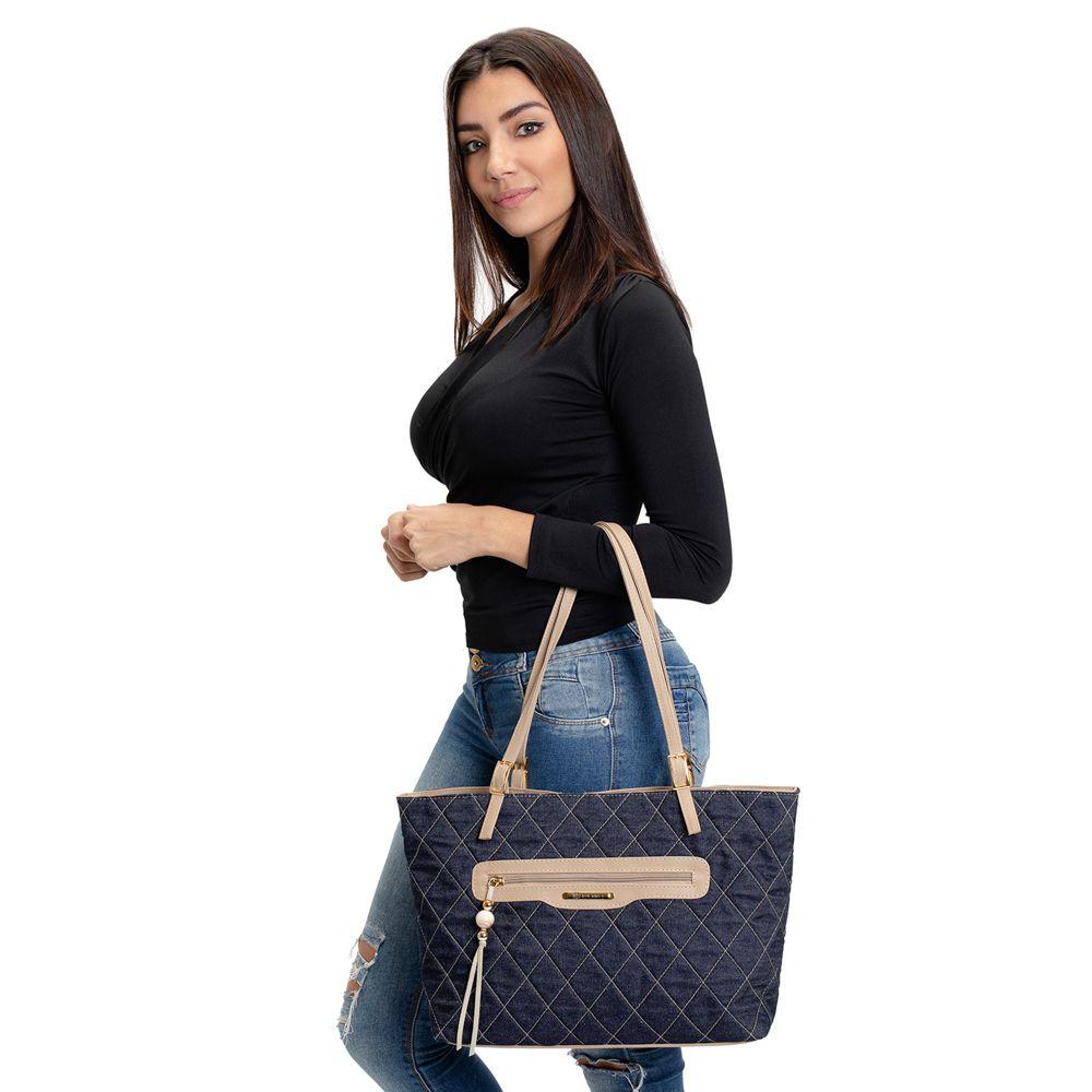 Bolsa Feminina Grande de Ombro Qualidade Premium 45cm