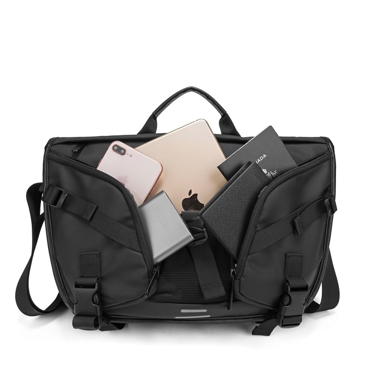 Bolsa Masculina Transversal Pasta Executiva Premium Impermeável para Notebooks de até 15.6 Polegadas com Compartimento Exclusivo para Tablets e Smartphones Bolsa Carteiro Masculina Shoulder Bag Bange