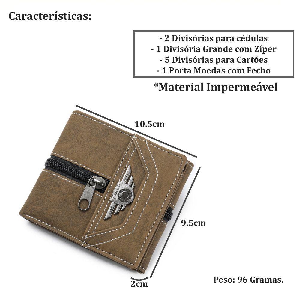 carteira com porta moedas