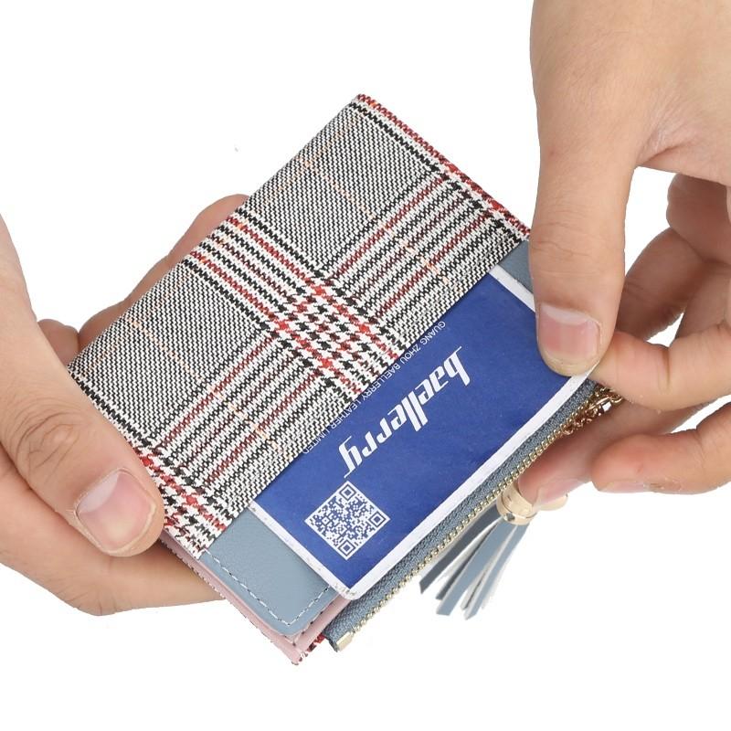 Carteira Feminina Pequena Baellerry Com Zíper Cartões Moedas