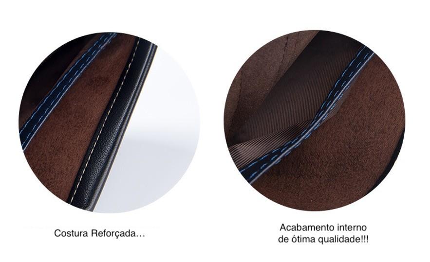 Carteira Masculina De Couro Sintético Premium de 3 Camadas