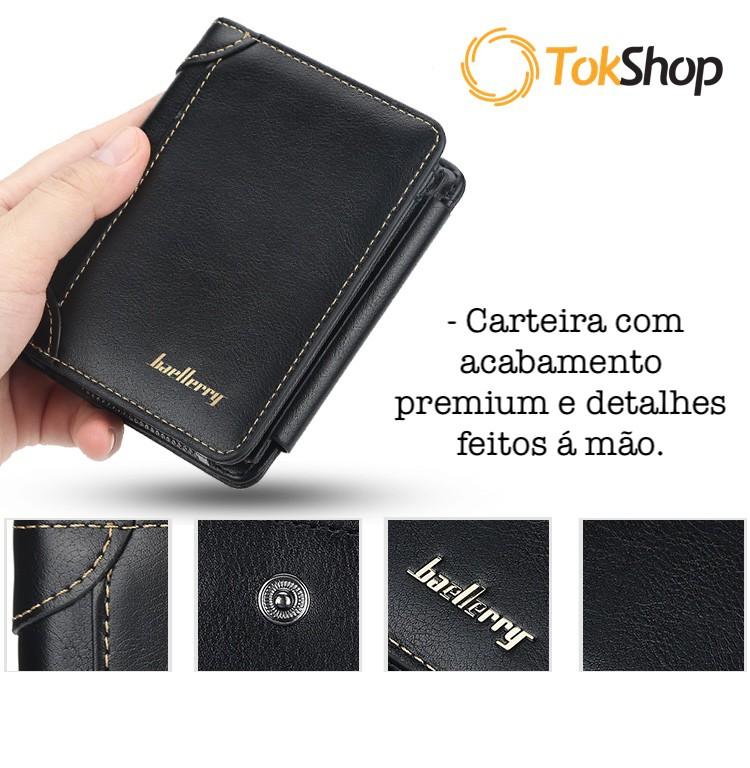 Carteira Masculina Vertical Premium + Porta Níquel com Zíper