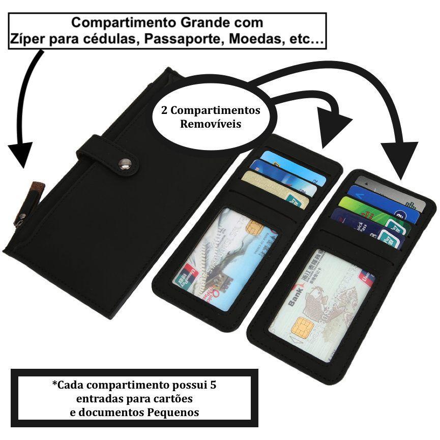carteira porta celular