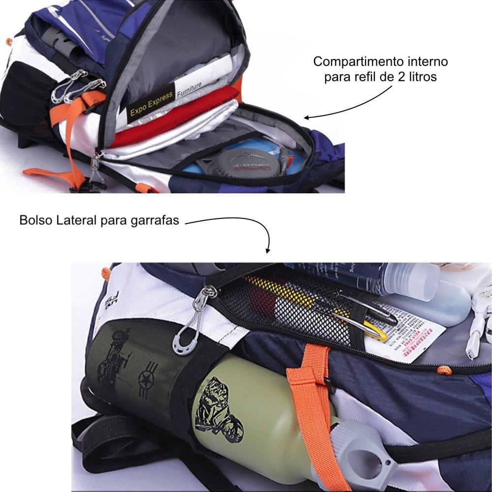 Mochila hidratação Ciclismo Camelback Com Refil 2 Litros