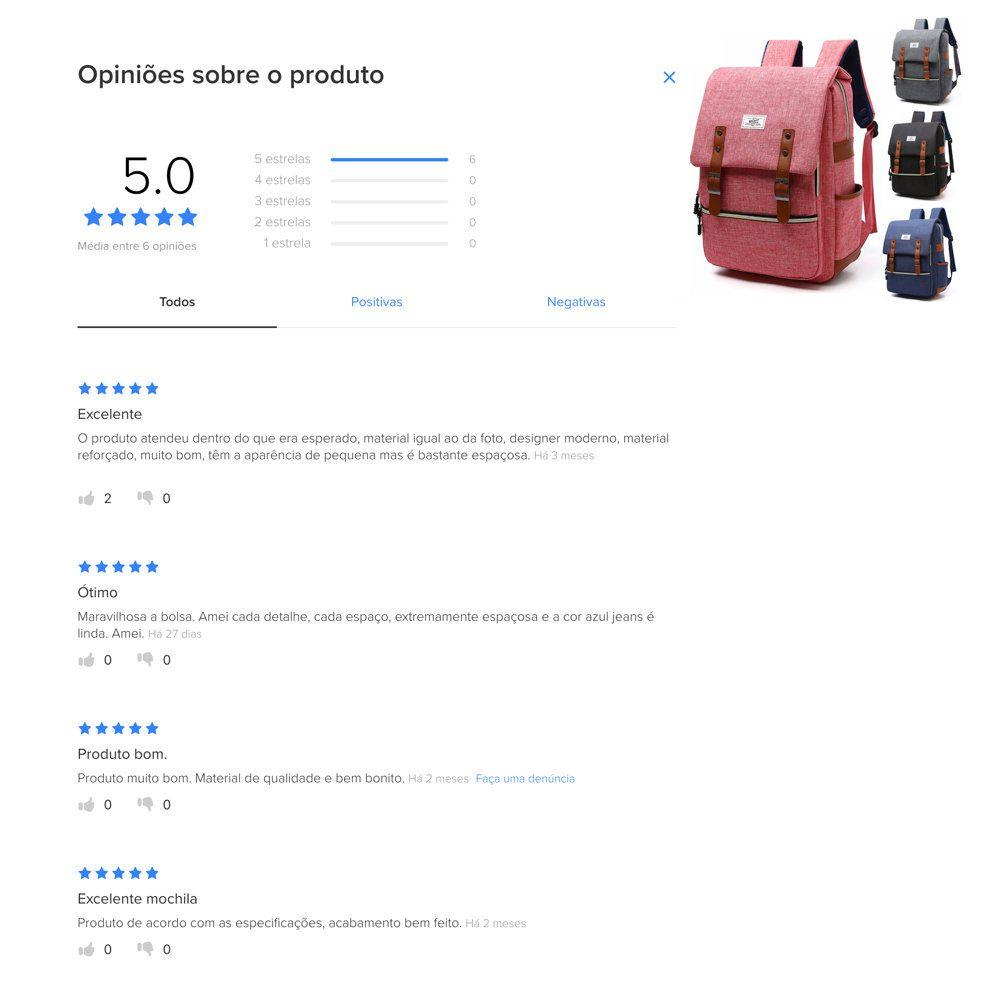 opinião dos clientes