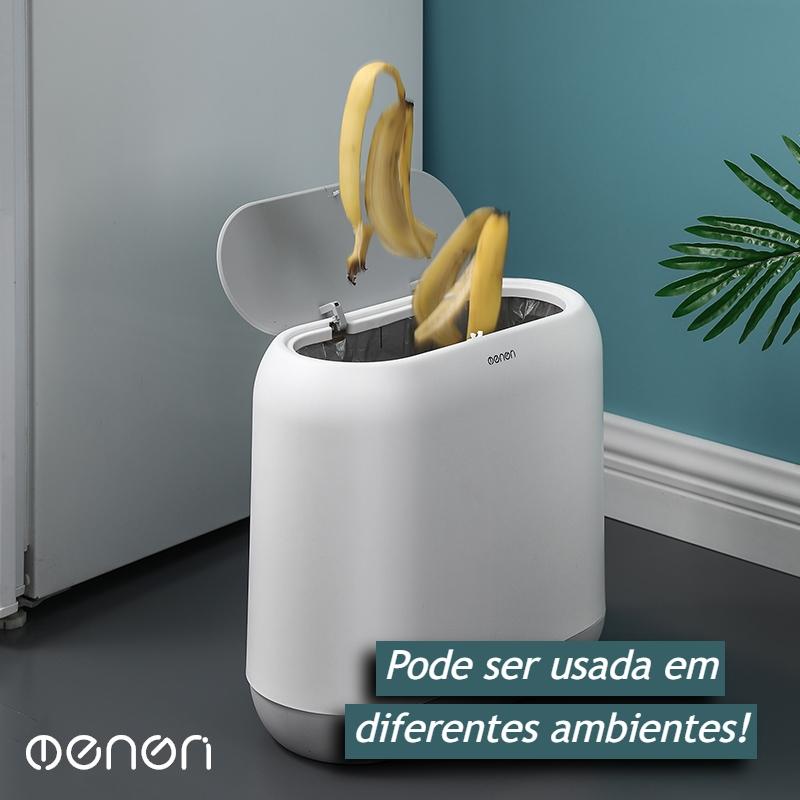 Lixeira Para Banheiro Moderna Fechada Com Capacidade De 10L