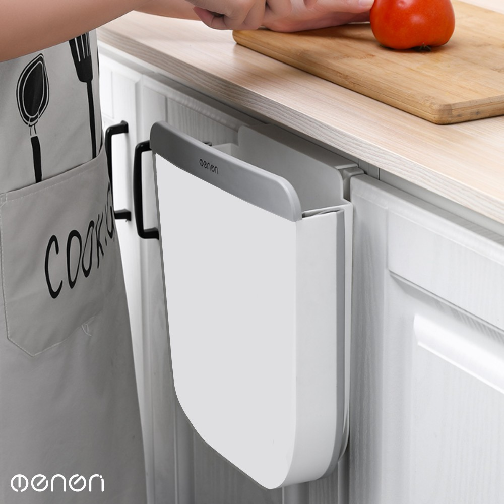 Lixeira de Cozinha com Suporte para Pia Expansível Aberta Seletiva Cesto de Lixo para Pia de Cozinha Retangular de Plástico Com Capacidade De 10L Branca para Lixo Reciclável ou Orgânico OENON