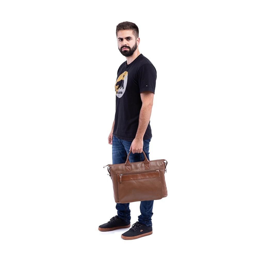 Maleta Couro Masculina de Luxo Premium Transversal Notebook