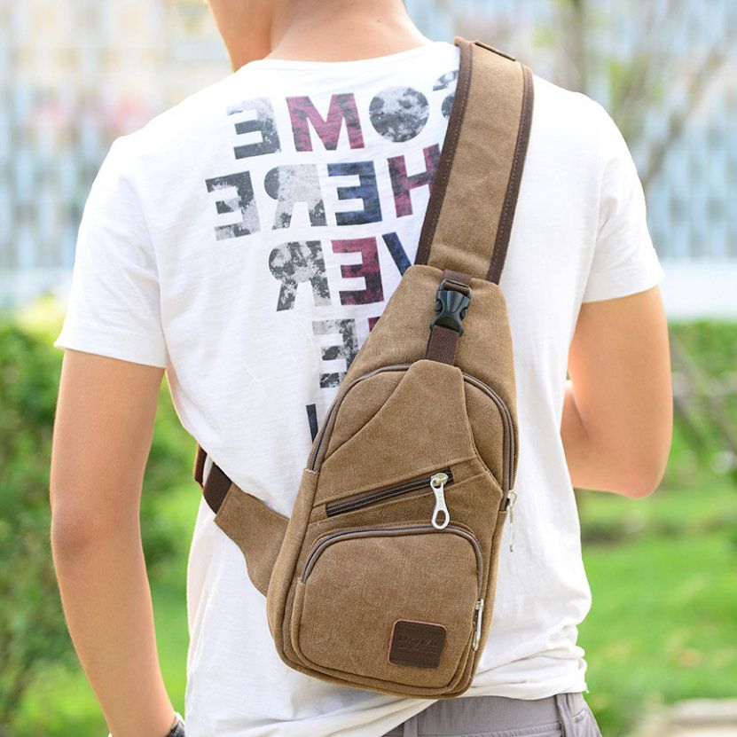 mini mochila de lona
