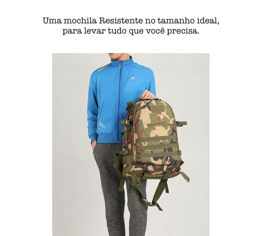 Mochila Camping Camuflada 40L