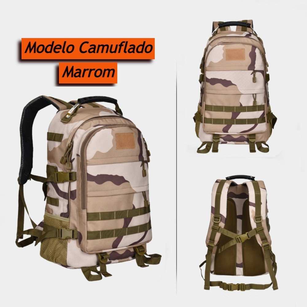 Mochila Camping Grande Estilo Mochila Militar 35 Litros