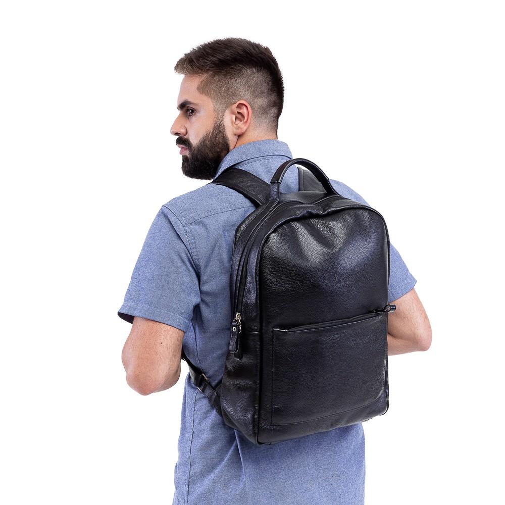 mochila de couro masculina