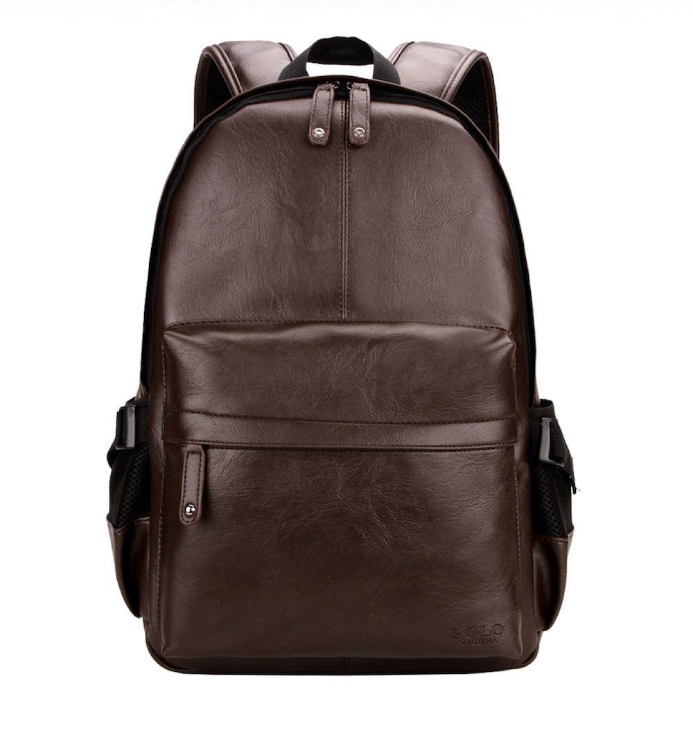 mochila de couro para notebook
