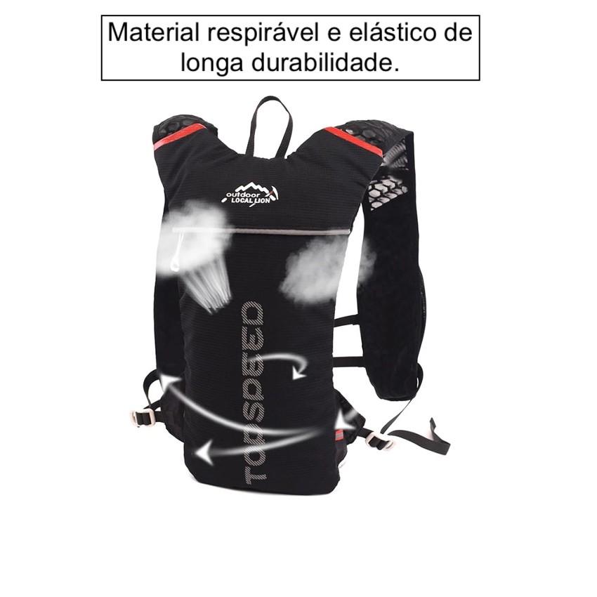 Mochila de Hidratação Ciclismo Mtb Bike Bicicleta Corrida Colete Profissional para Atletas Camelbak com Refil de 2 Litros com Mangueira 100% Livre de BPA e PVC Que Não Deixa Água com Gosto Ruim