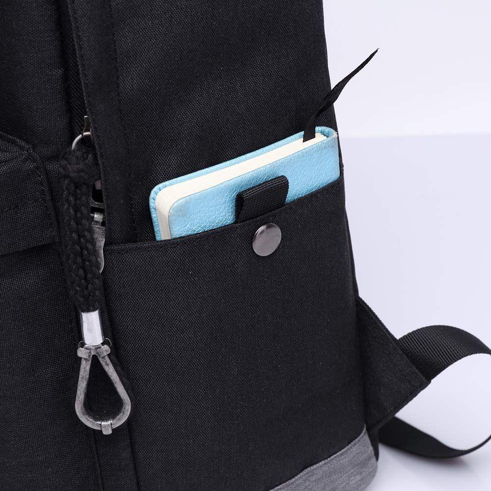 Mochila Escolar Com USB Reforçada Para Notebook Moderna Unissex
