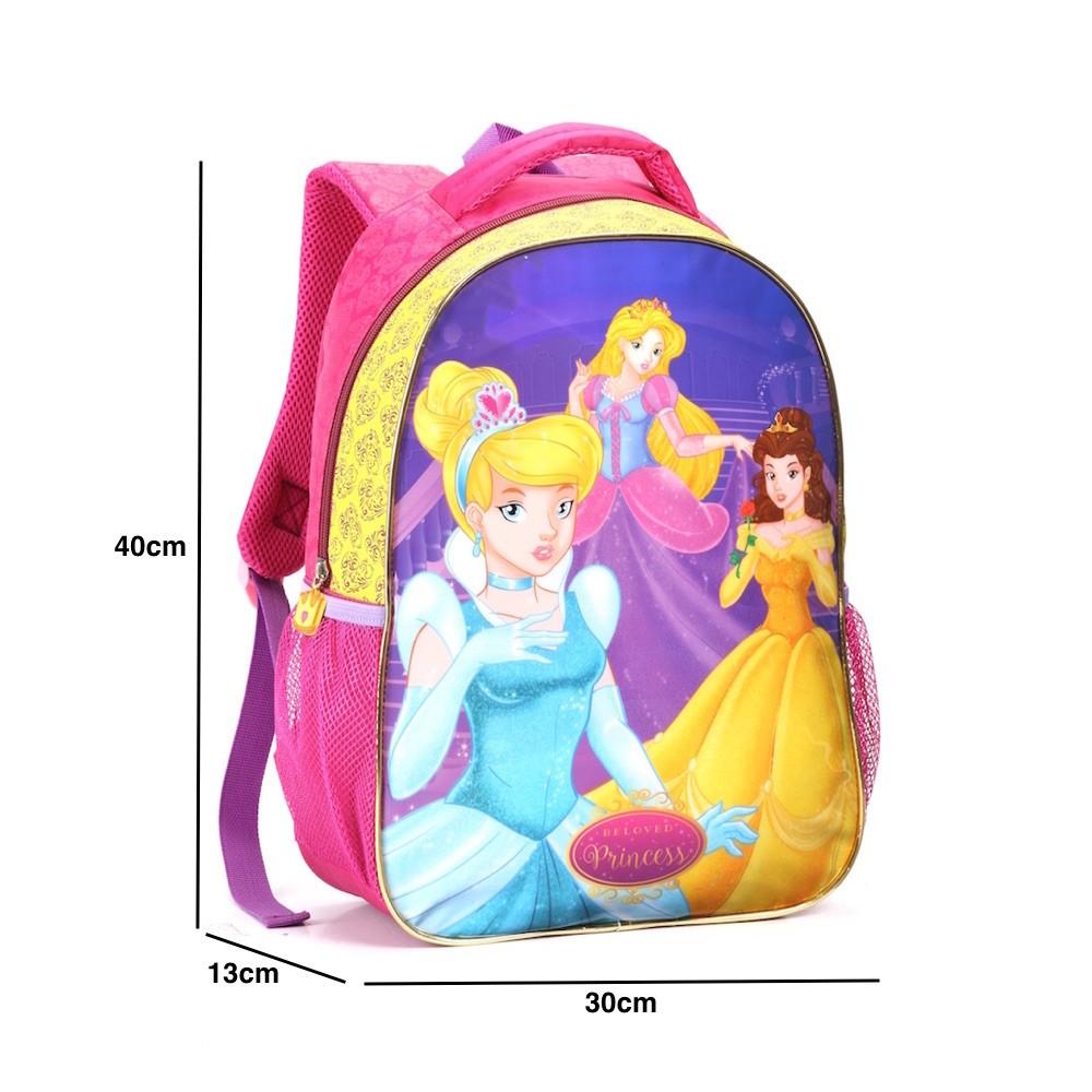 Mochila Escolar Feminina Bonita Meninas Princesas