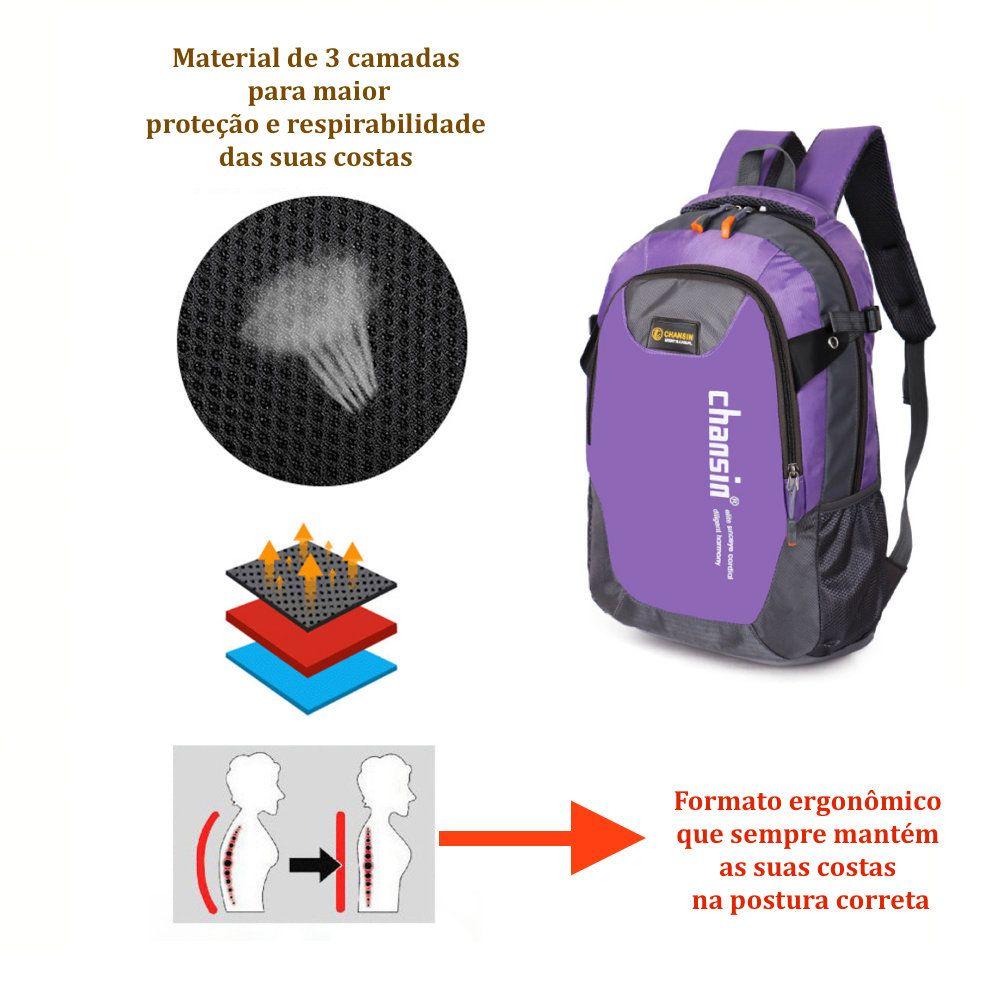 mochila escolar femininacom compartimento para notebook