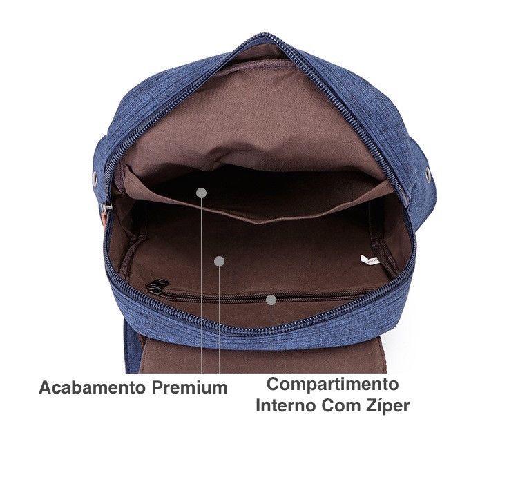 Mochila Feminina Pequena de Lona Premium