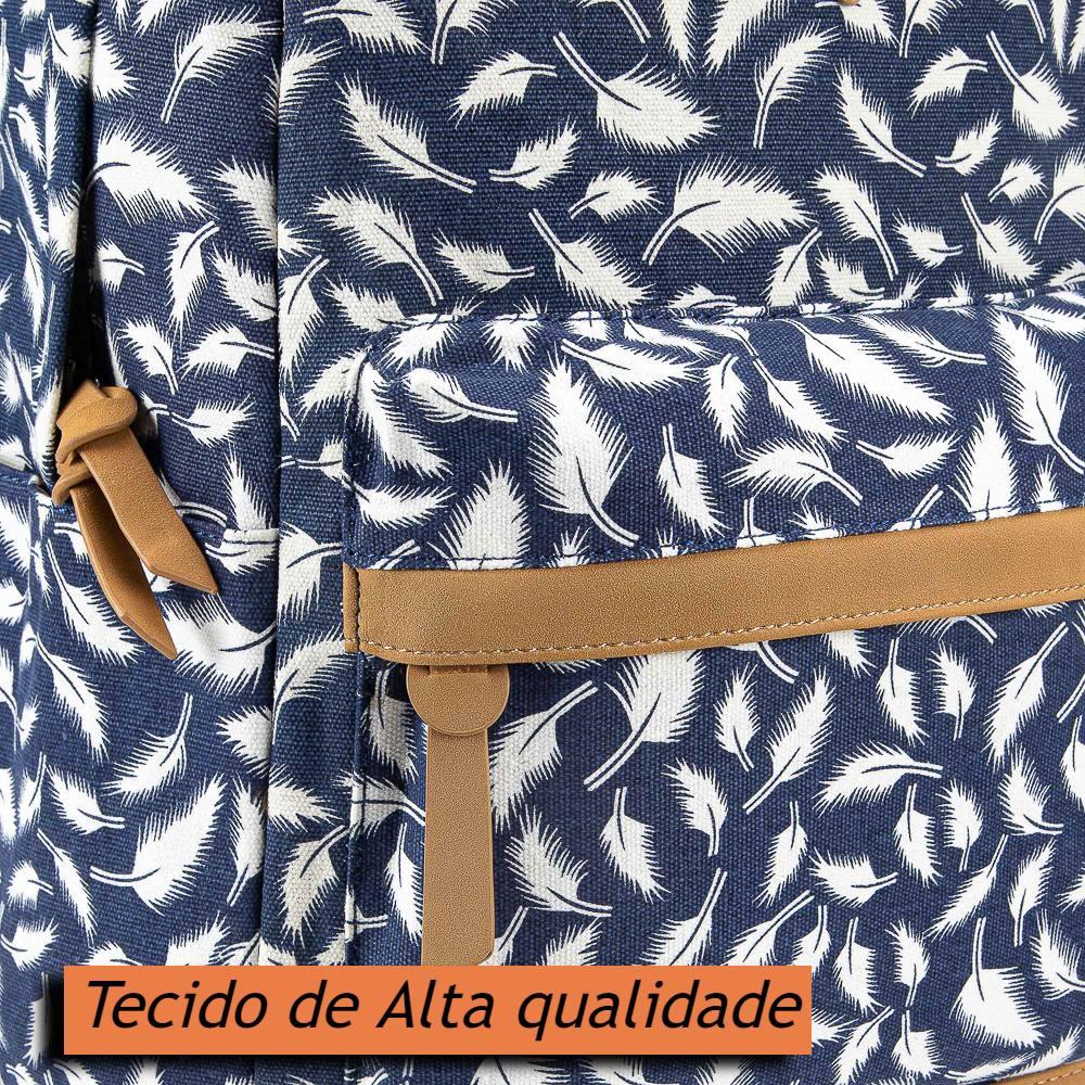Mochila Feminina Escolar Pequena Para Notebook 15.6 Floral