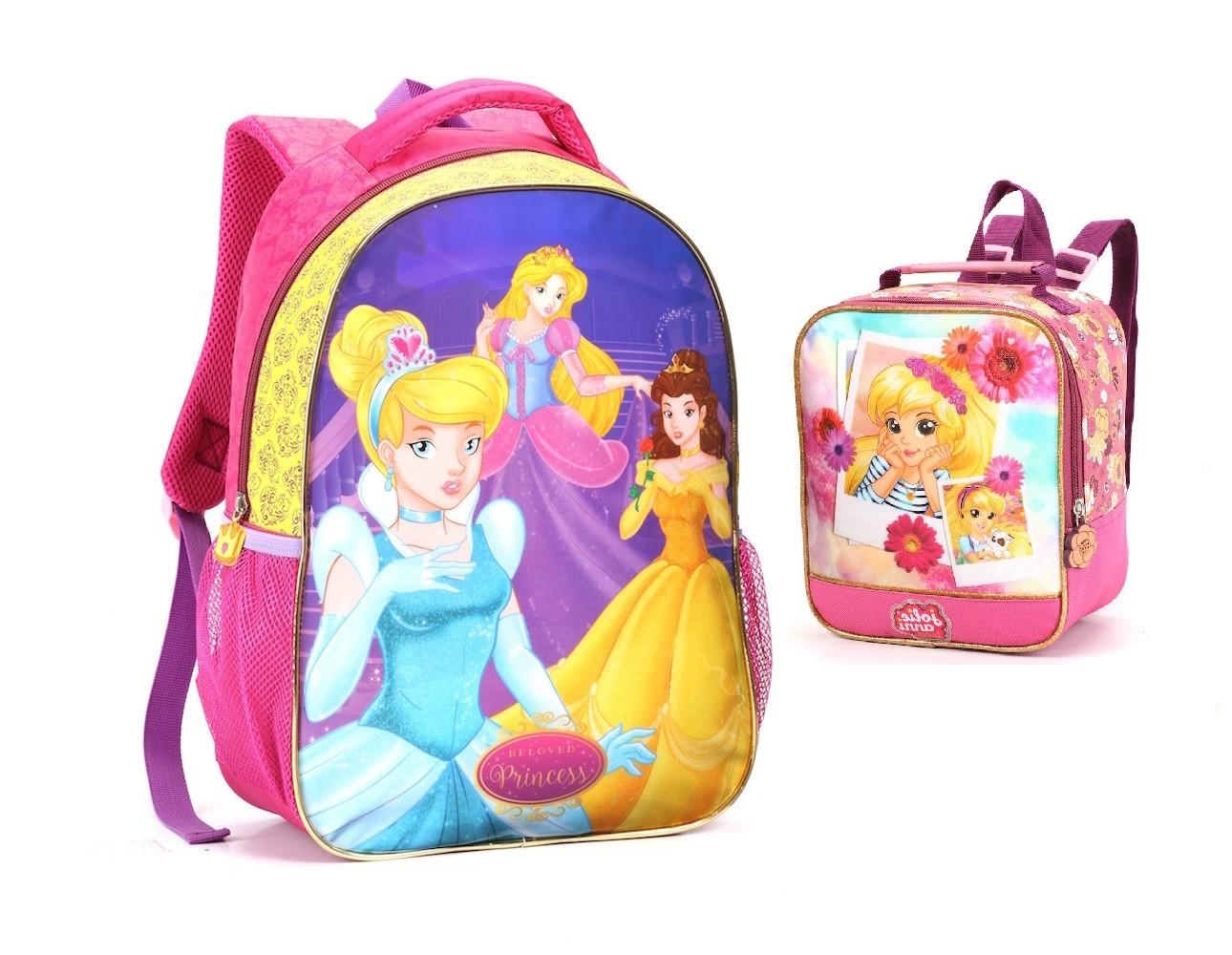 Mochila Infantil Escolar Meninas Alta Qualidade + Lancheira