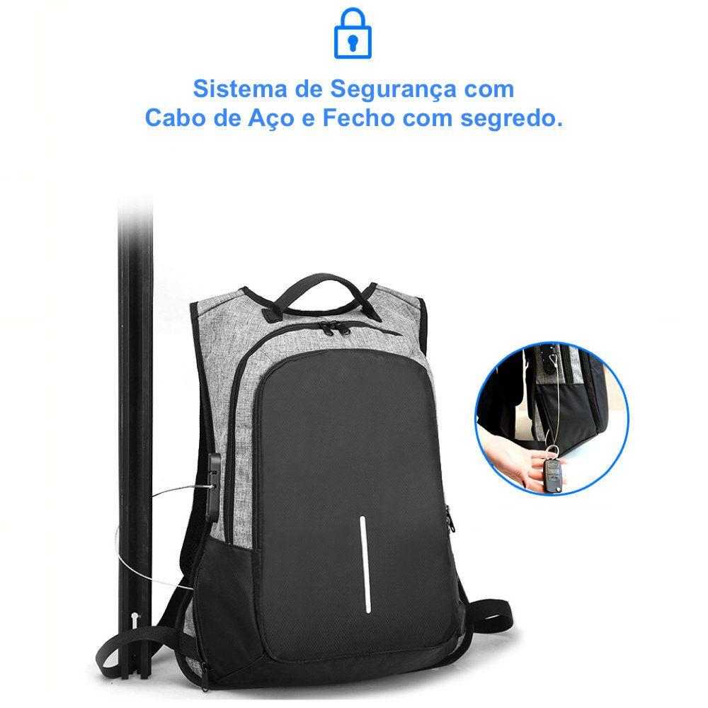 Mochila Notebook Antifurto com Fecho