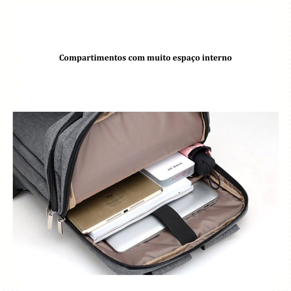 Mochila Retangular para Notebook com Alça de Alumínio