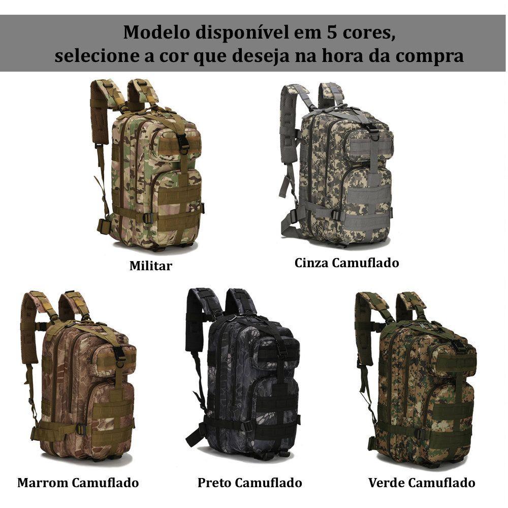 Mochila Tática Militar Camuflada 30L