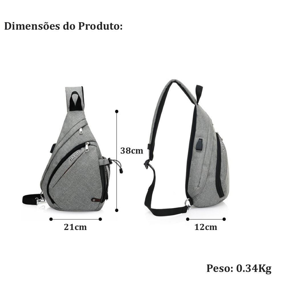mochila transversal masculina